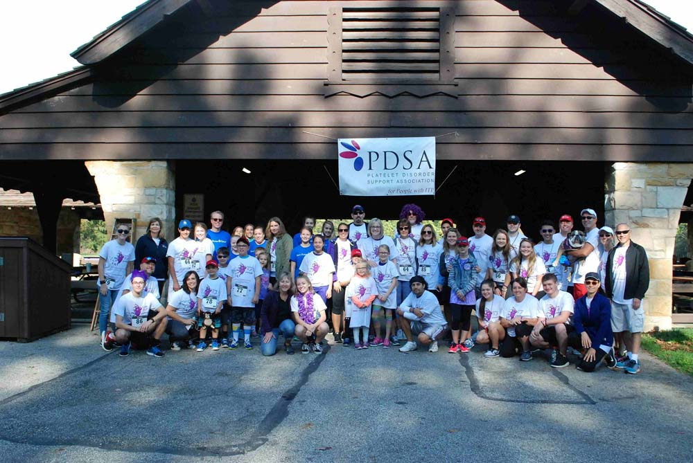 Big group at walk/run event